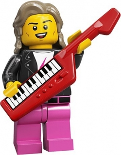 LEGO 71027 MINIFIGURKA POP STAR Z 80. LET